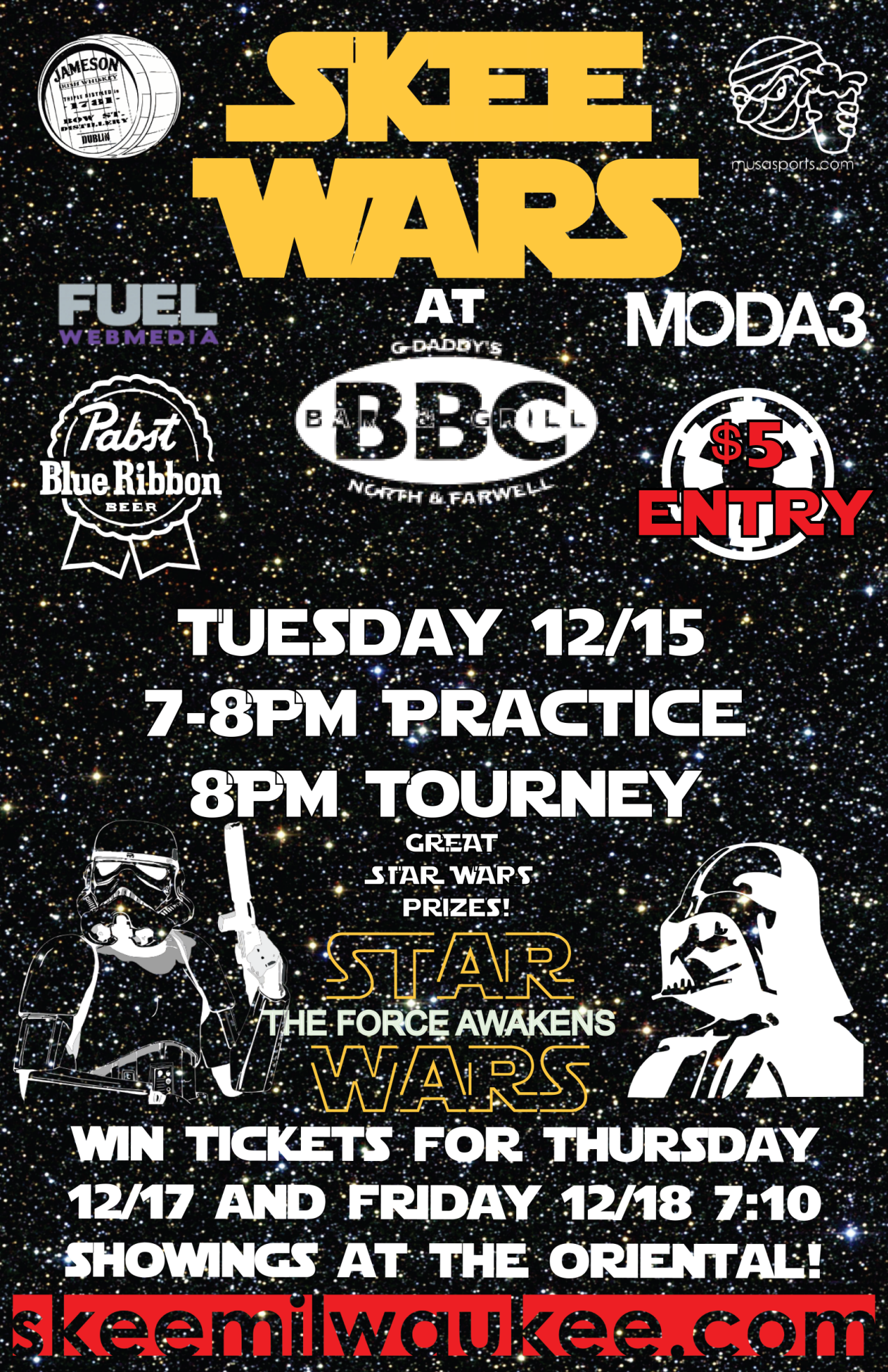 Skee Wars Flyer